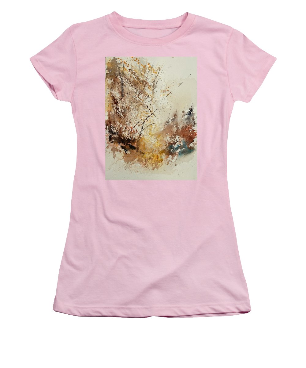 Tree Women's T-Shirt (Athletic Fit) featuring the painting Watercolor 903012 by Pol Ledent