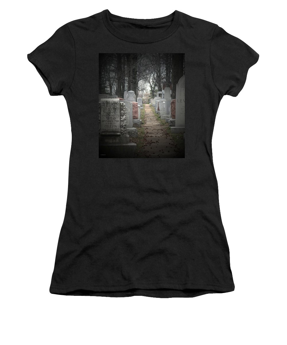 Cemetary Women's T-Shirt (Athletic Fit) featuring the photograph Closure by Albert Stewart