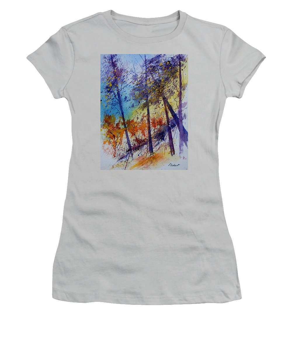 Spring Women's T-Shirt (Athletic Fit) featuring the painting Watercolor 131108 by Pol Ledent