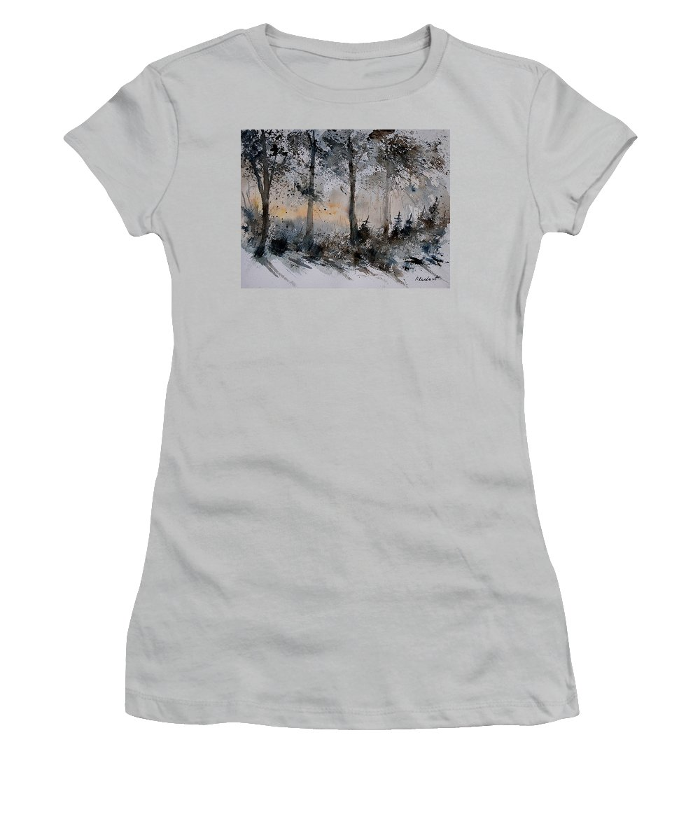 Tree Women's T-Shirt (Athletic Fit) featuring the painting Watercolor 141206 by Pol Ledent