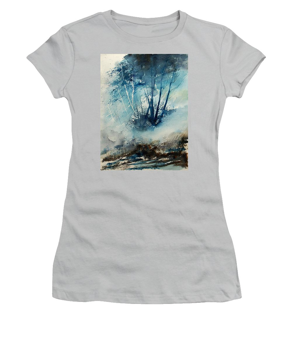 Tree Women's T-Shirt (Athletic Fit) featuring the painting Watercolor 230907 by Pol Ledent