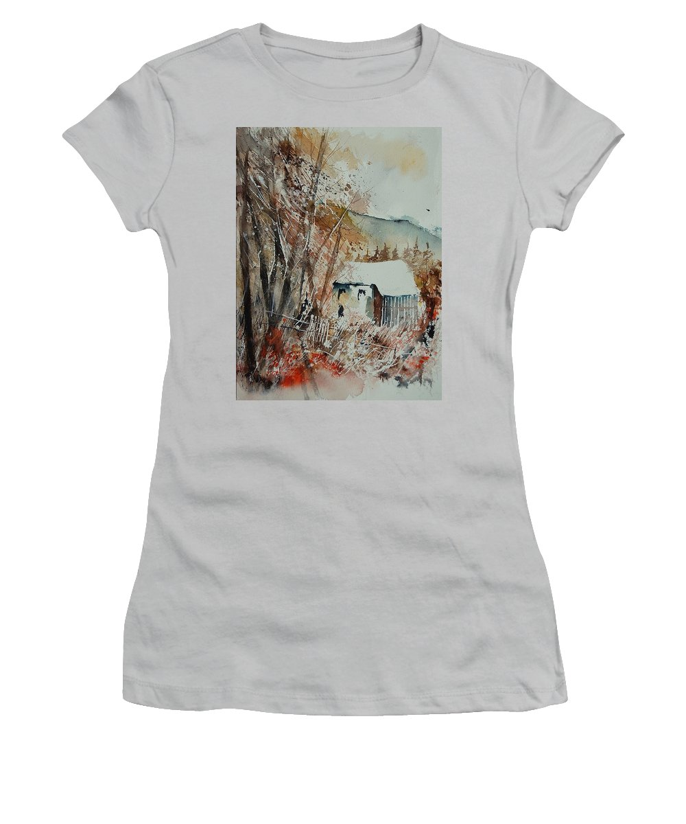 Tree Women's T-Shirt (Athletic Fit) featuring the painting Watercolor 902001 by Pol Ledent