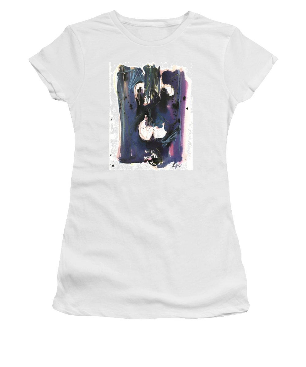Figure Women's T-Shirt (Athletic Fit) featuring the painting Kneeling by Robert Joyner