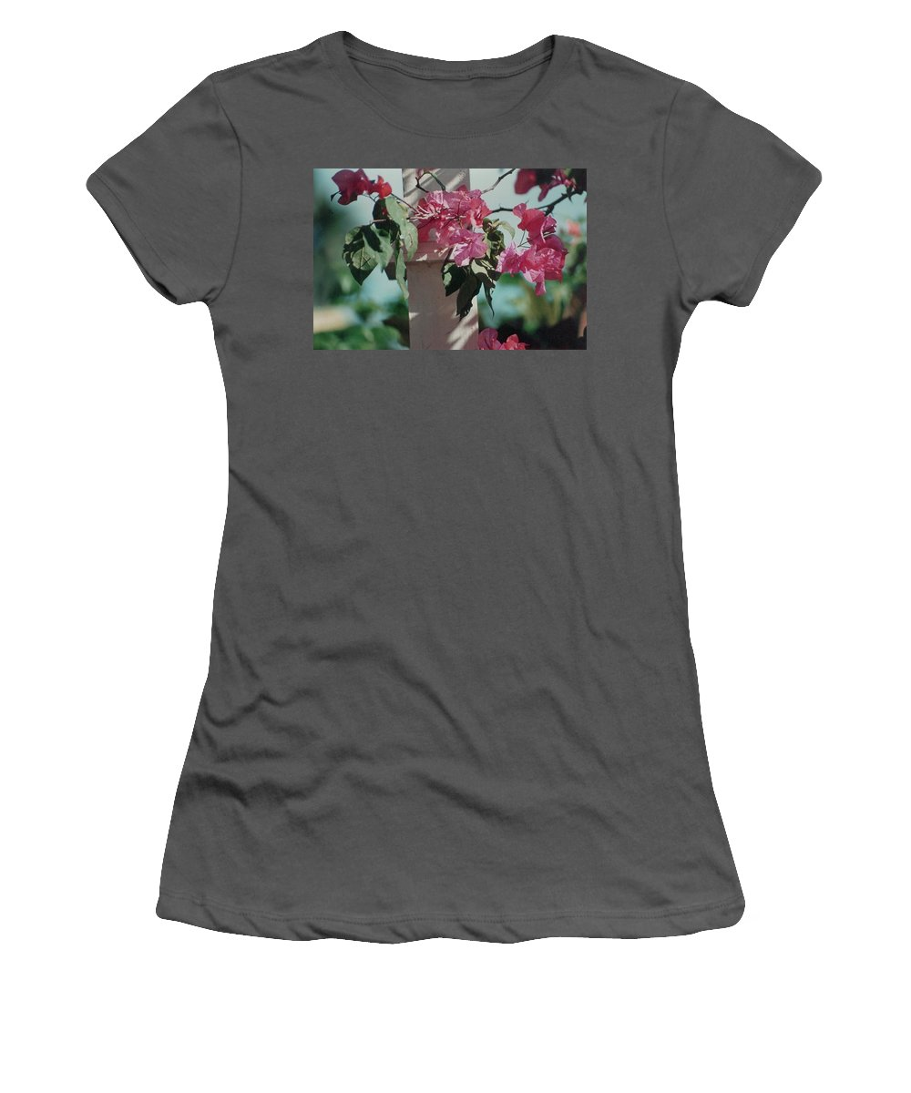 Charity Women's T-Shirt (Athletic Fit) featuring the photograph Bouganvillea by Mary-Lee Sanders