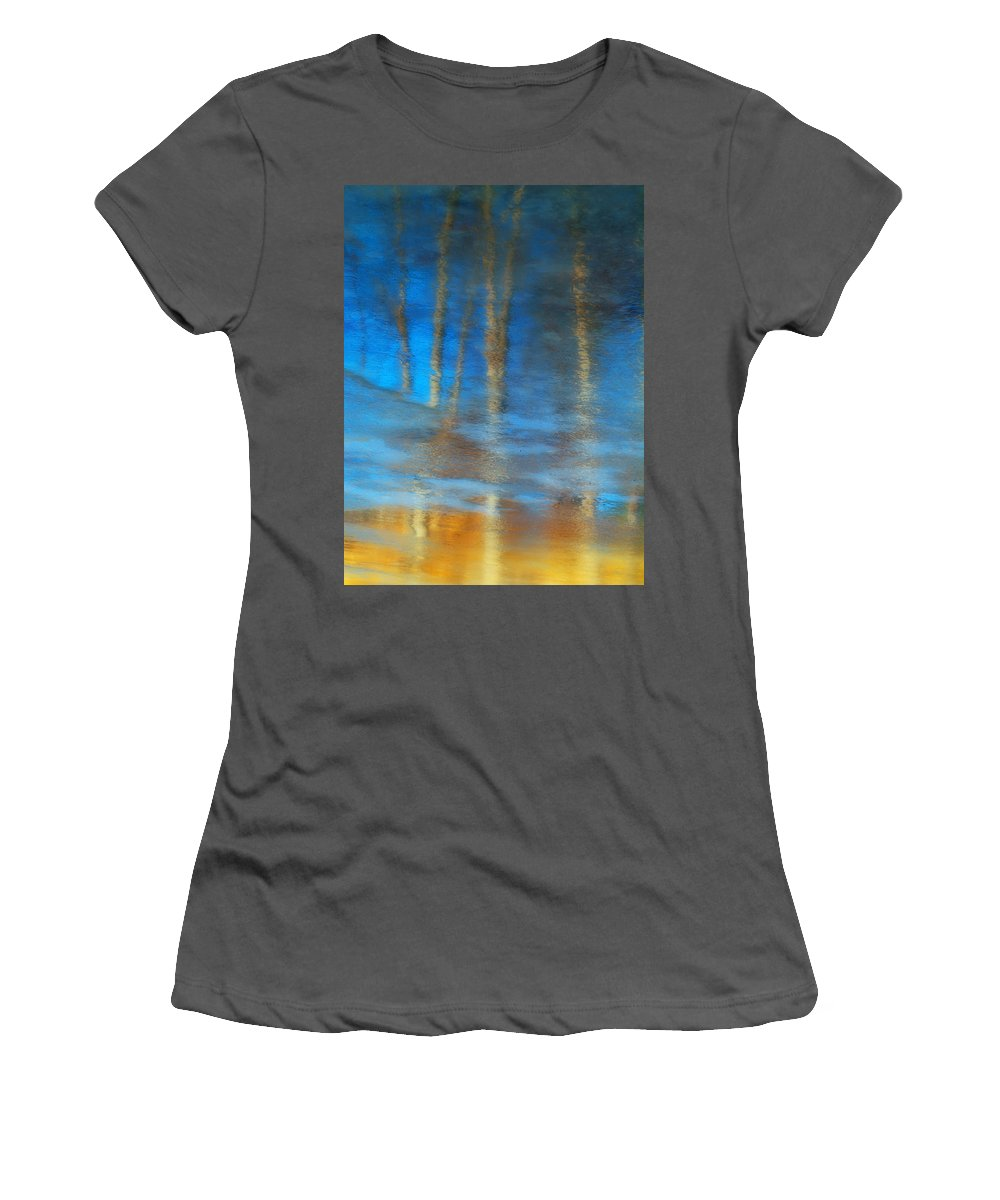 Ice Women's T-Shirt (Athletic Fit) featuring the photograph Ice Reflections by Tara Turner