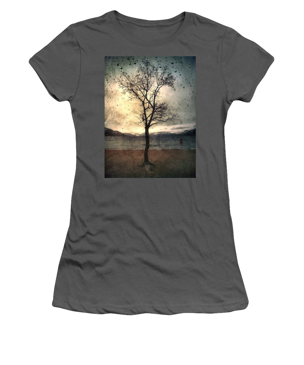 Rain Women's T-Shirt (Athletic Fit) featuring the photograph January 12 2010 by Tara Turner