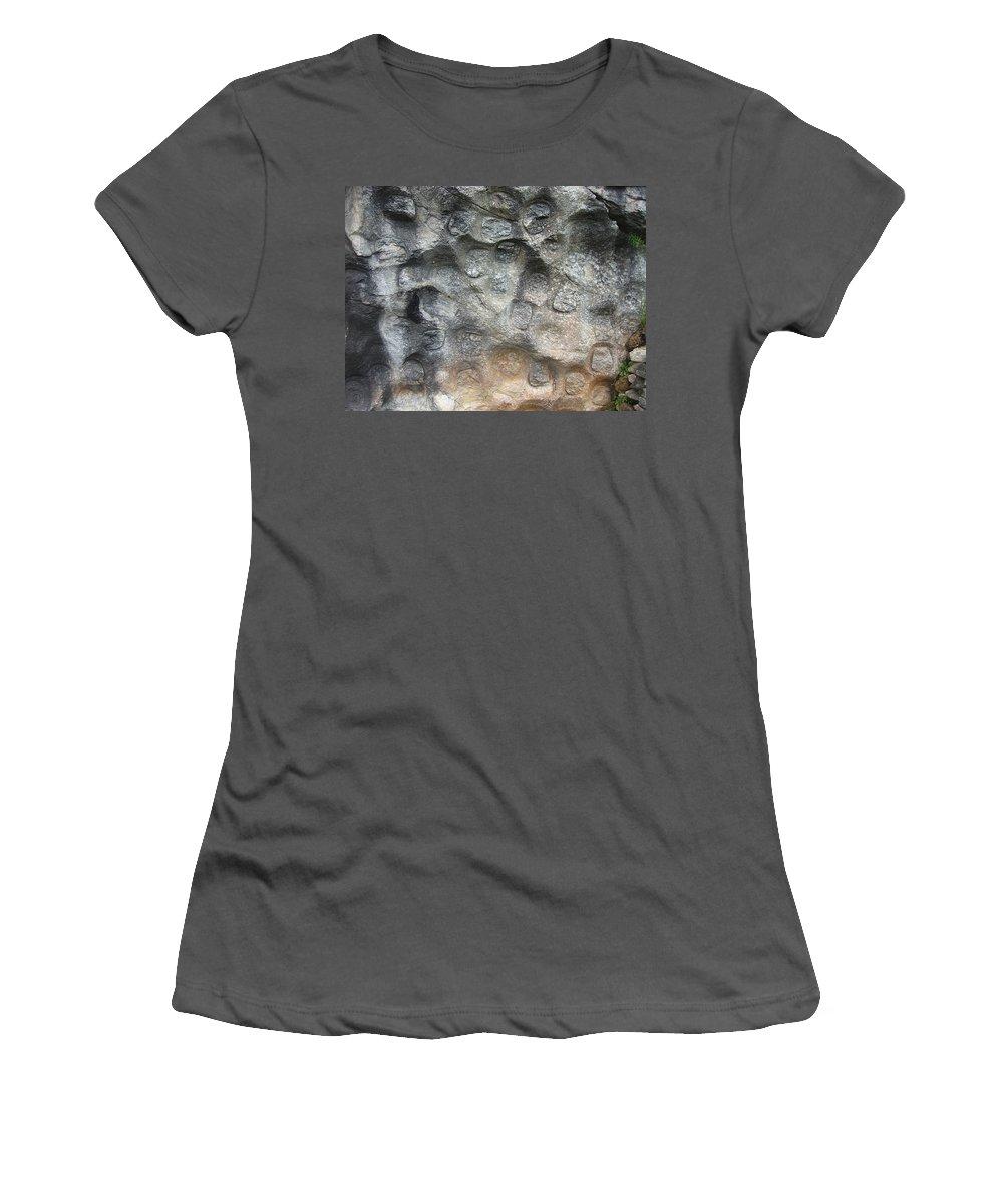 Photograph Softstone Soft Stone Newfoundland Atlantic Baieverte Women's T-Shirt (Athletic Fit) featuring the photograph Softstone by Seon-Jeong Kim