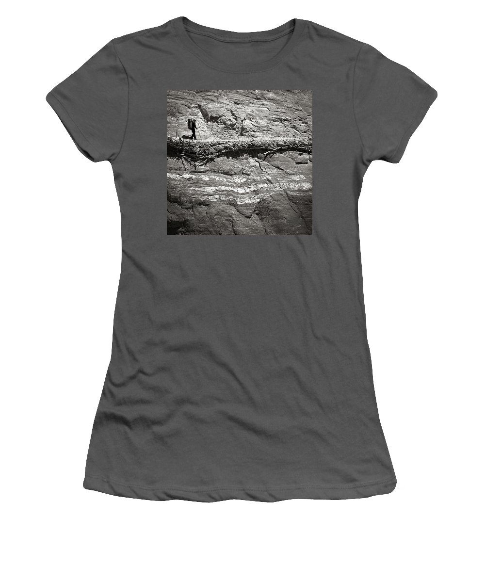 Alone Women's T-Shirt (Athletic Fit) featuring the photograph The Path by Konstantin Dikovsky