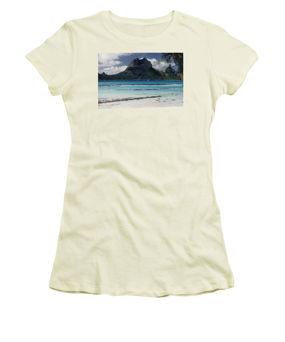 Charity Women's T-Shirt (Athletic Fit) featuring the photograph Bora Bora by Mary-Lee Sanders