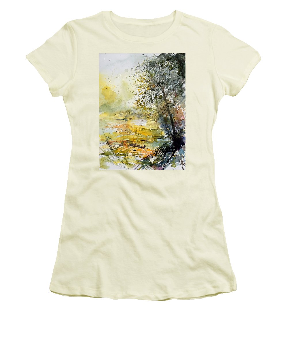 Water Women's T-Shirt (Athletic Fit) featuring the painting Watercolor 050906 by Pol Ledent