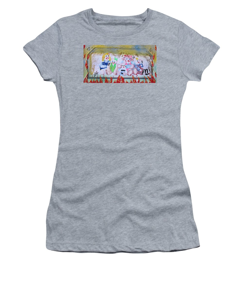 Adult Women's T-Shirt (Athletic Fit) featuring the painting Bad Bears by Lisa Piper