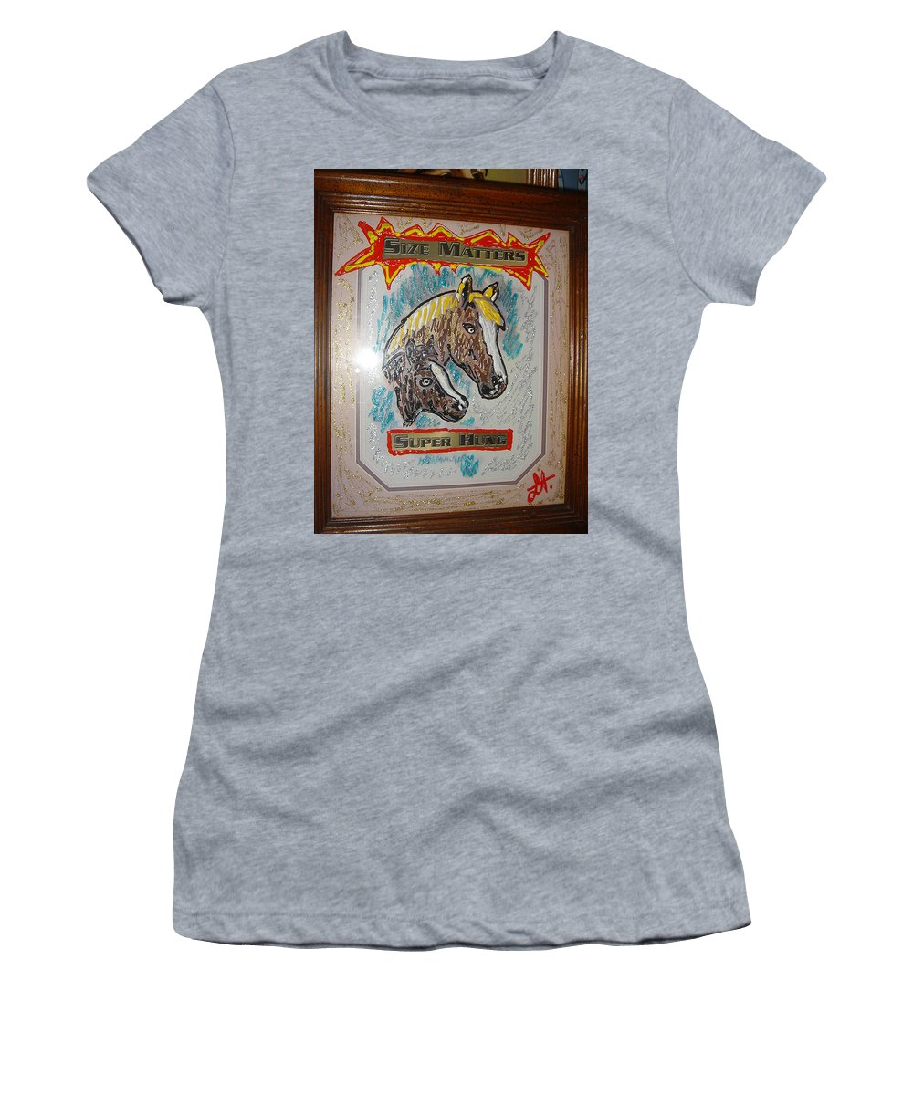 Horses Women's T-Shirt featuring the painting Horses by Lisa Piper