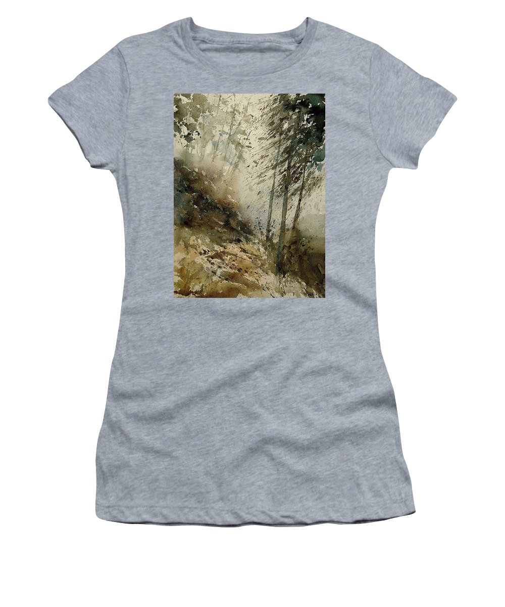 Tree Women's T-Shirt (Athletic Fit) featuring the painting Watercolor 271005 by Pol Ledent