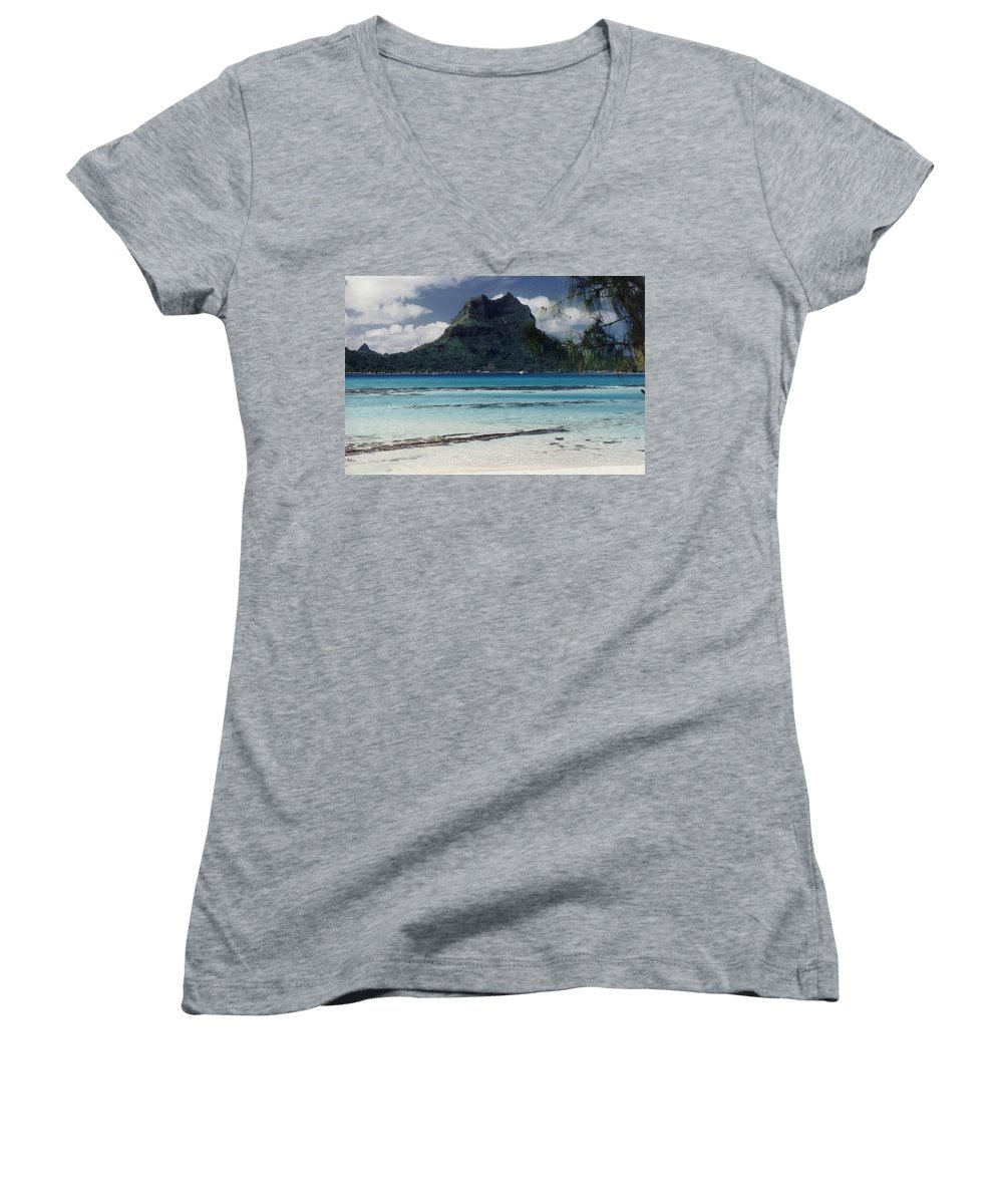 Charity Women's V-Neck T-Shirt featuring the photograph Bora Bora by Mary-Lee Sanders