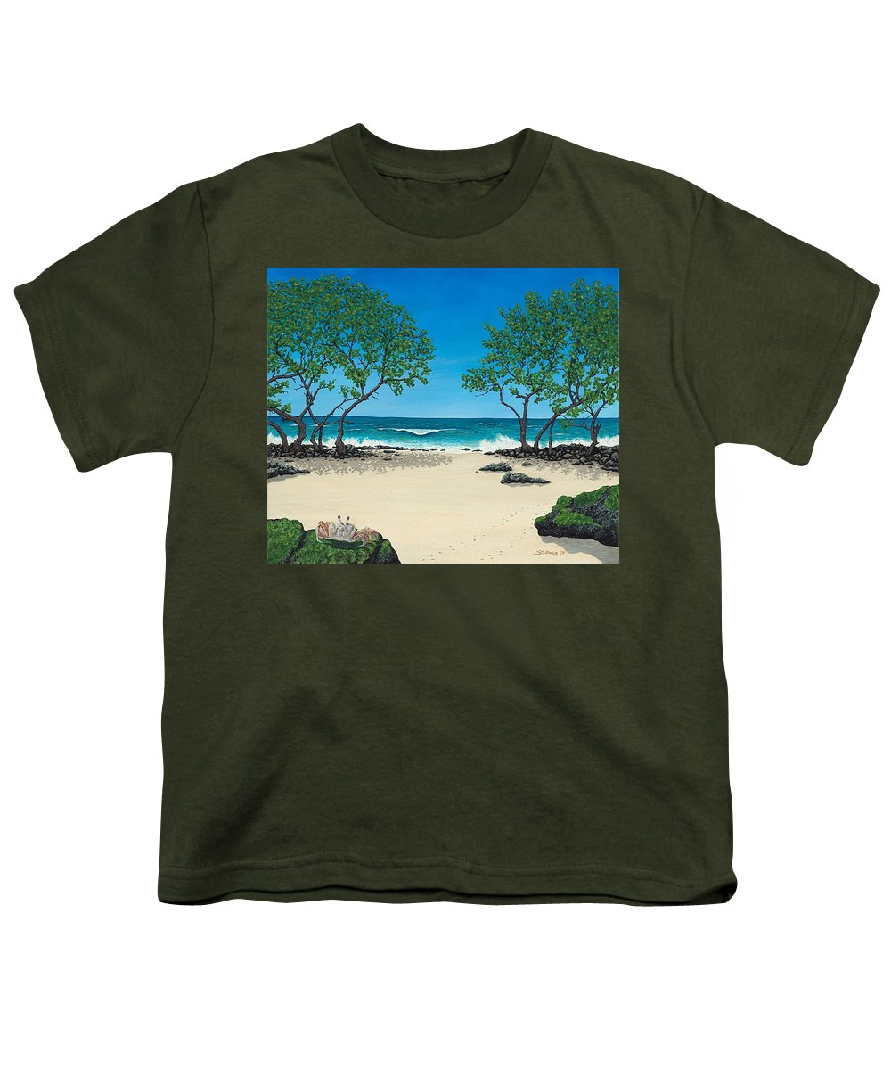 Ocean Youth T-Shirt featuring the painting Where Is My Corona by Shawn Stallings