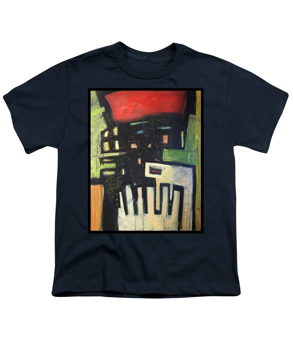 Abstract Youth T-Shirt featuring the painting D Flat by Tim Nyberg