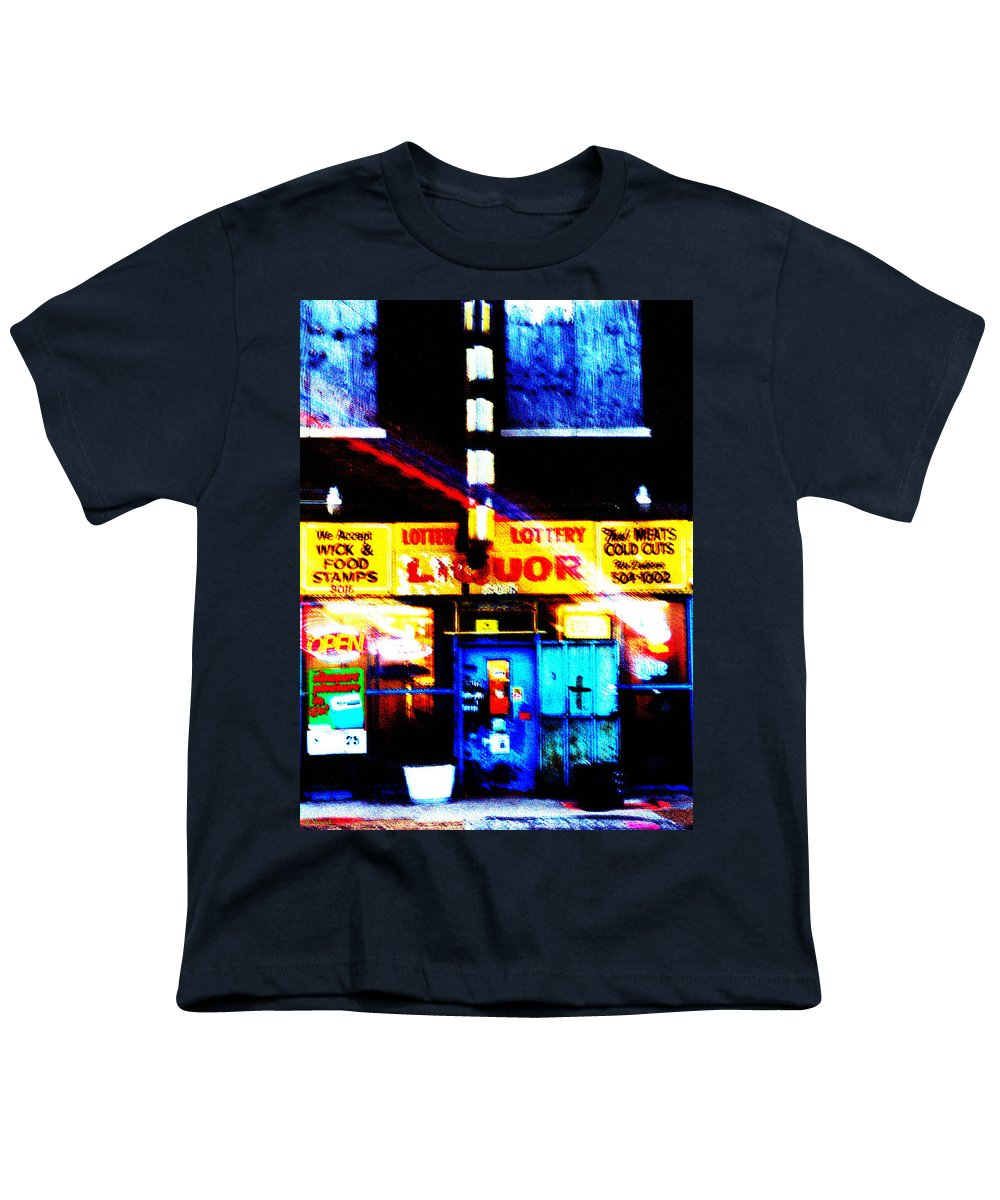 Store Youth T-Shirt featuring the photograph Corner Store by Albert Stewart