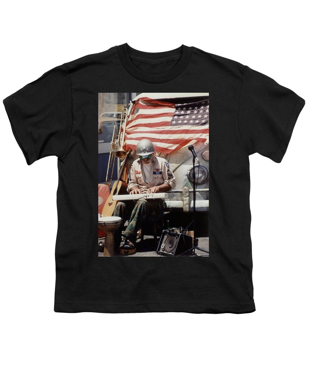 Charity Youth T-Shirt featuring the photograph Born In The Usa by Mary-Lee Sanders