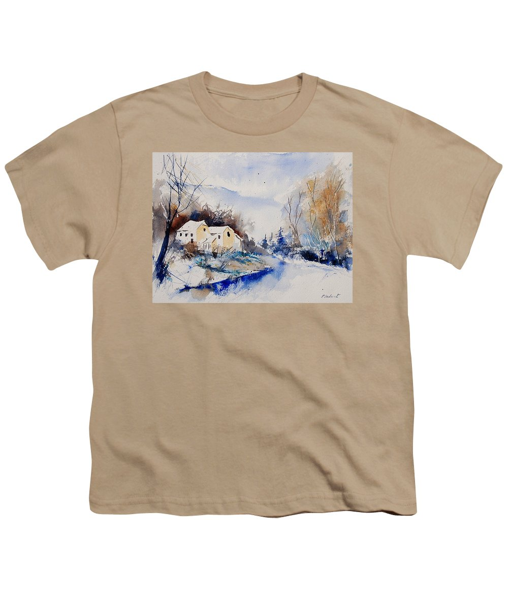 Winter Youth T-Shirt featuring the painting Watercolor 080408 by Pol Ledent
