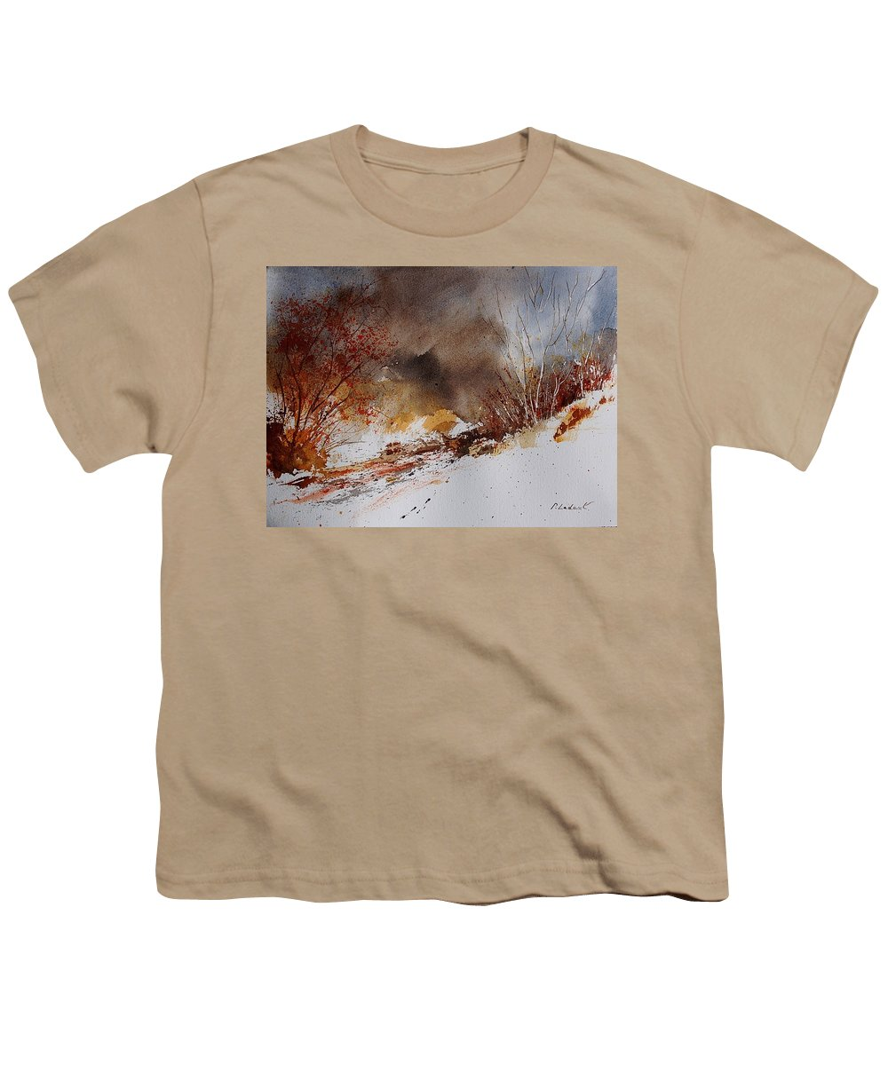 Winter Youth T-Shirt featuring the painting Watercolor 100508 by Pol Ledent