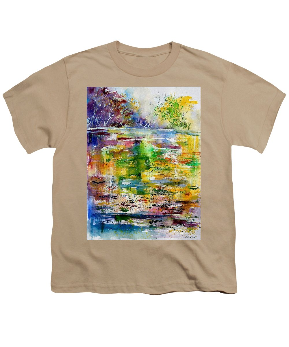Water Youth T-Shirt featuring the painting Watercolor 6878 by Pol Ledent