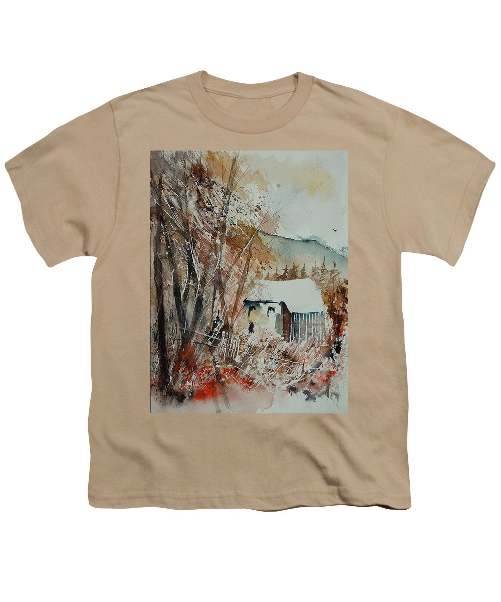 Tree Youth T-Shirt featuring the painting Watercolor 902001 by Pol Ledent