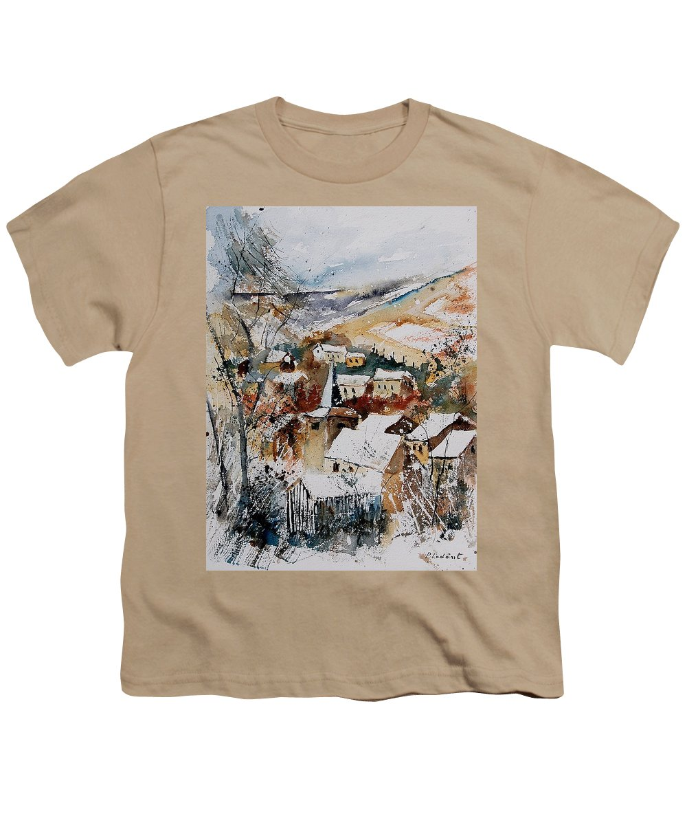 Winter Youth T-Shirt featuring the painting Watercolor 904002 by Pol Ledent