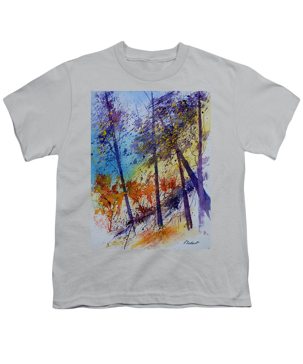 Spring Youth T-Shirt featuring the painting Watercolor 131108 by Pol Ledent