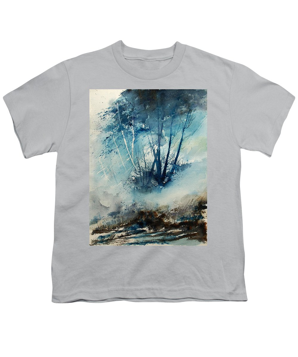 Tree Youth T-Shirt featuring the painting Watercolor 230907 by Pol Ledent