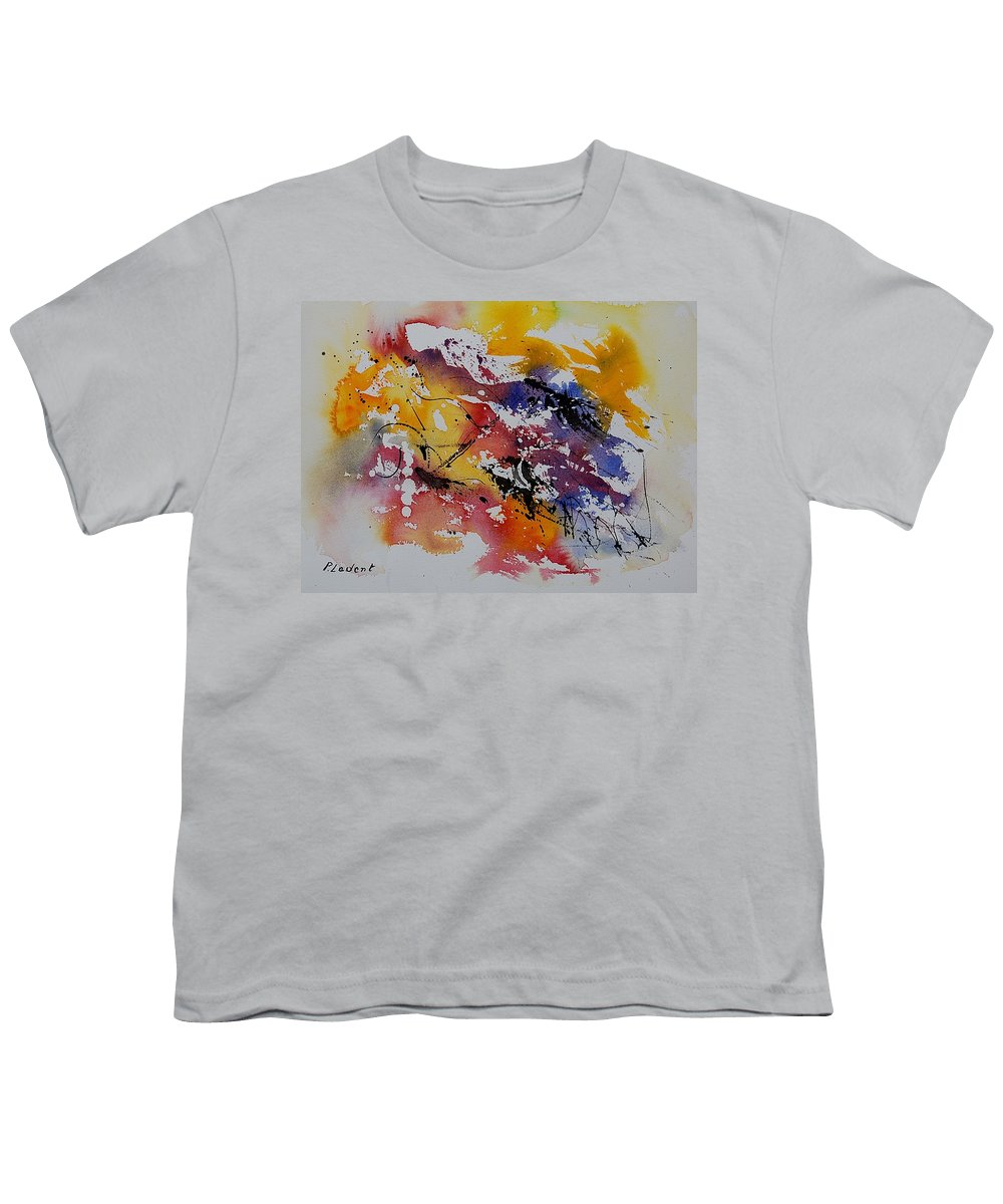 Abstract Youth T-Shirt featuring the painting Watercolor 902022 by Pol Ledent