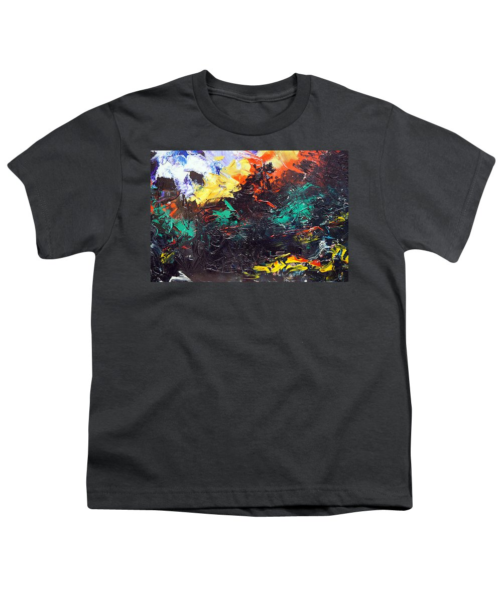 Vision Youth T-Shirt featuring the painting Schizophrenia by Sergey Bezhinets