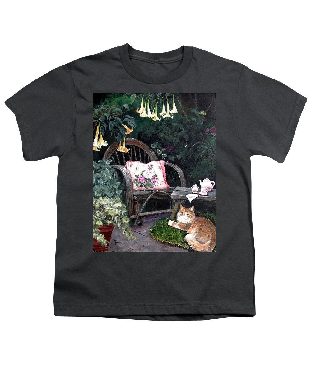Charity Youth T-Shirt featuring the painting My Secret Garden by Mary-Lee Sanders