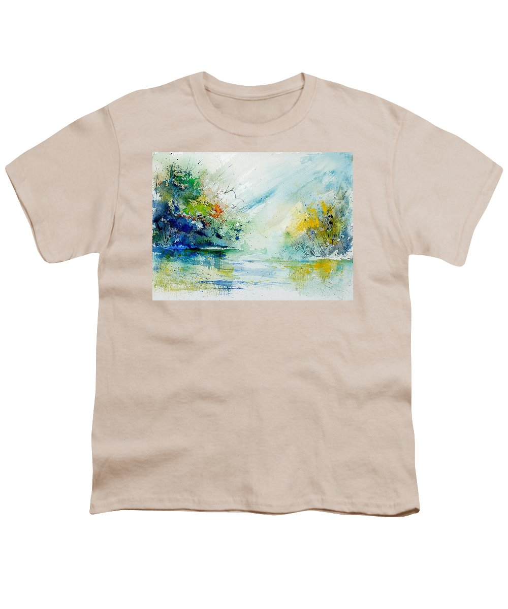 Water Youth T-Shirt featuring the painting Watercolor 903022 by Pol Ledent