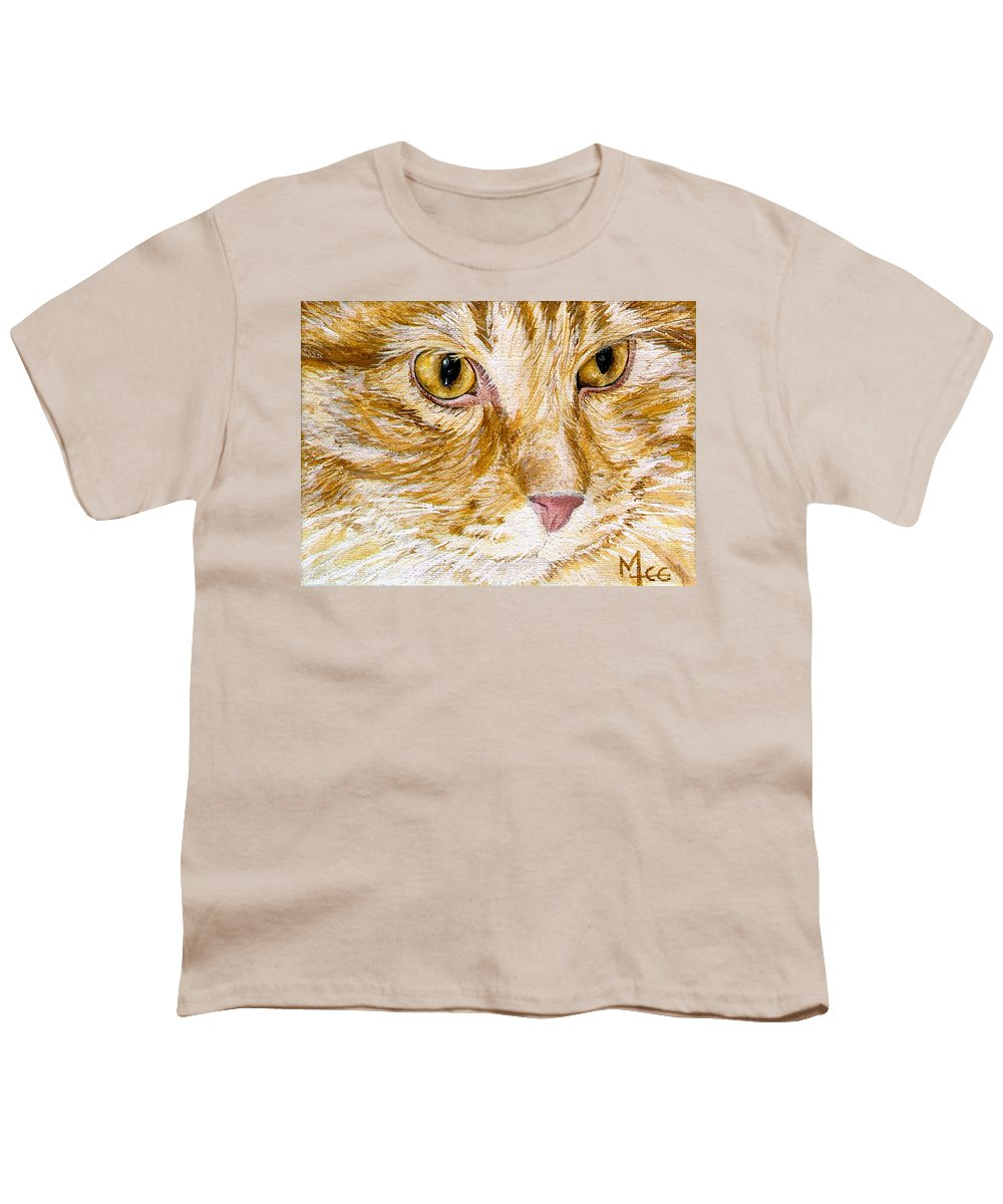 Charity Youth T-Shirt featuring the painting Leo by Mary-Lee Sanders