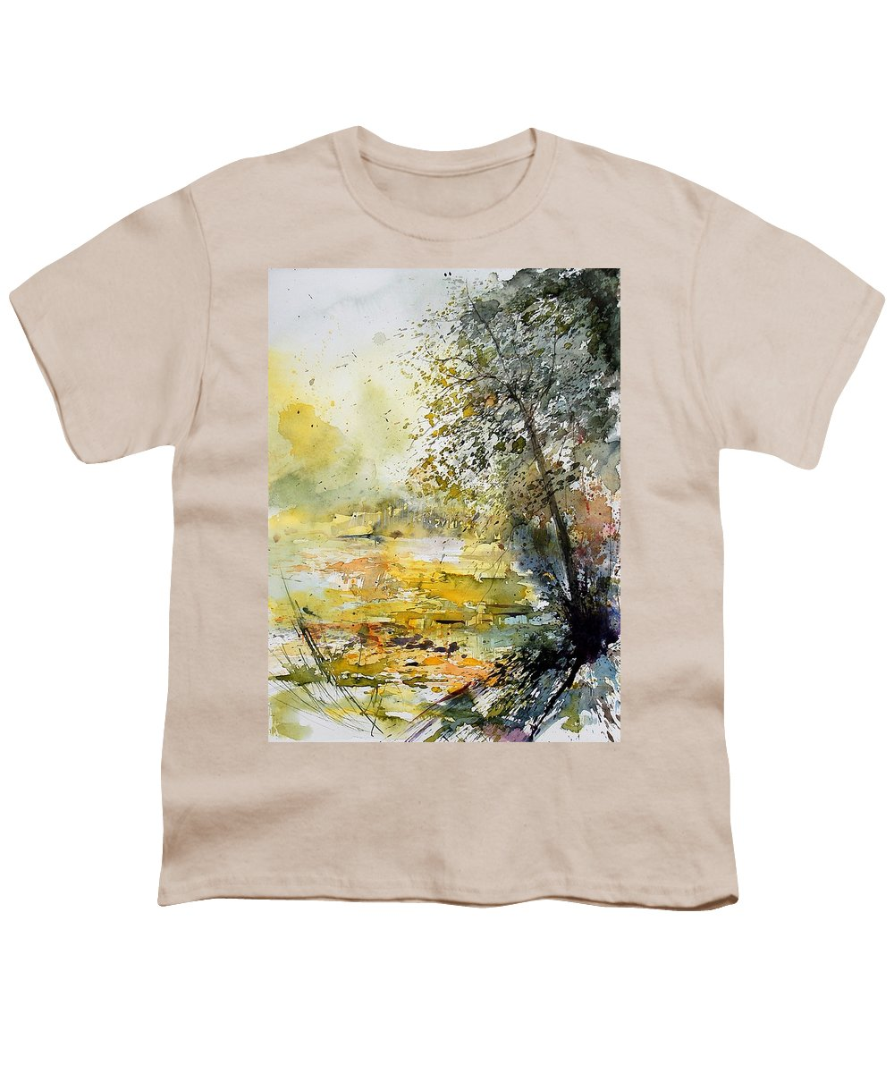 Water Youth T-Shirt featuring the painting Watercolor 050906 by Pol Ledent