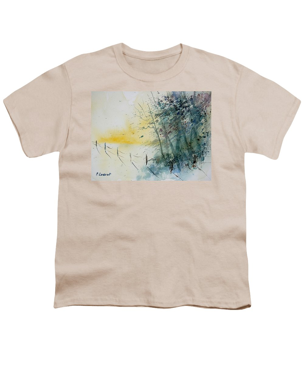 Winter Youth T-Shirt featuring the painting Watercolor 080708 by Pol Ledent