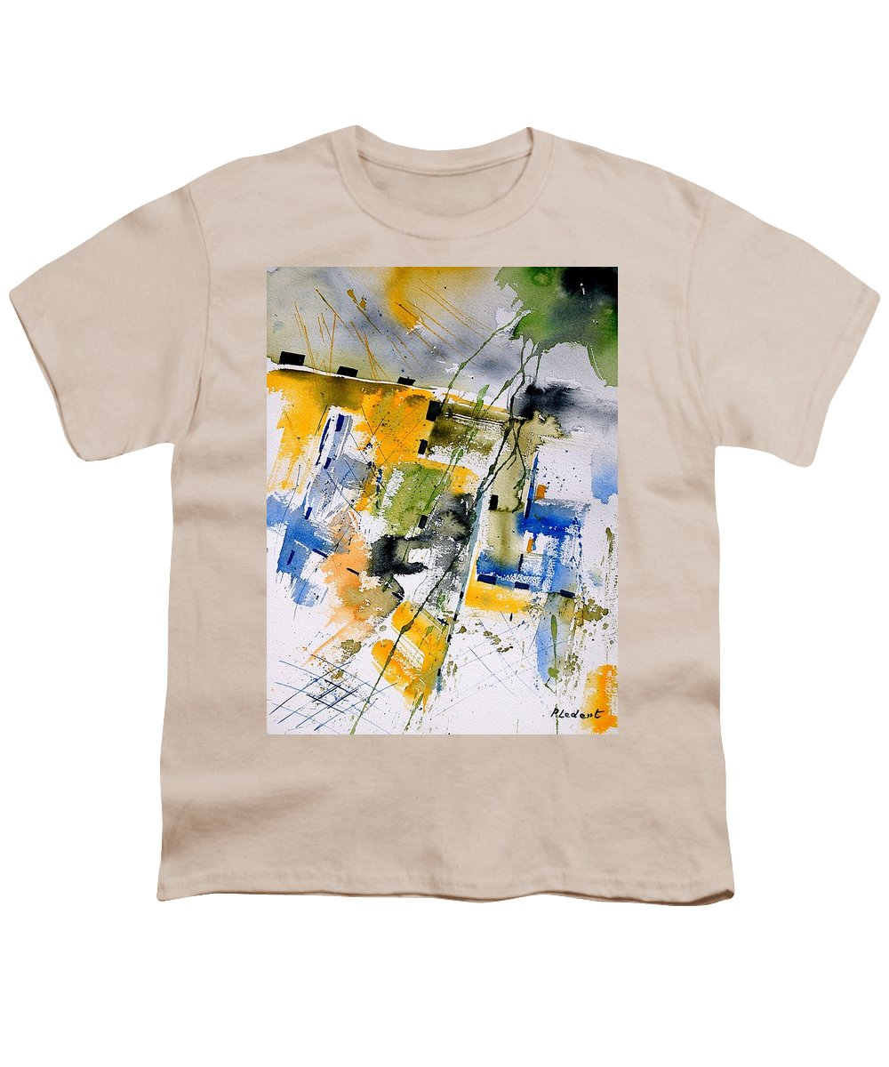 Abstract Youth T-Shirt featuring the painting Watercolor 161106 by Pol Ledent