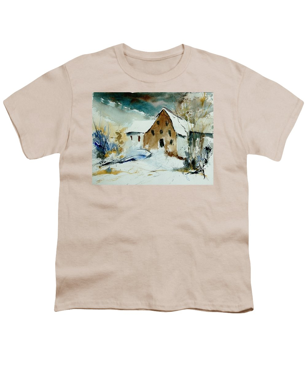 Winter Youth T-Shirt featuring the painting Watercolor 9696 by Pol Ledent