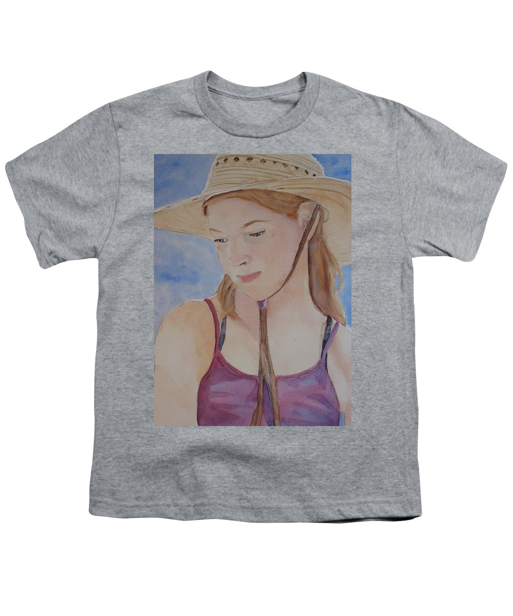 Girl Youth T-Shirt featuring the painting Hat And Shoulders by Jenny Armitage
