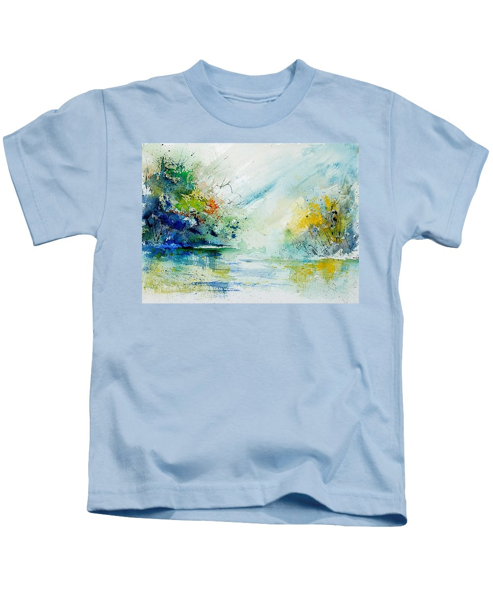 Water Kids T-Shirt featuring the painting Watercolor 903022 by Pol Ledent