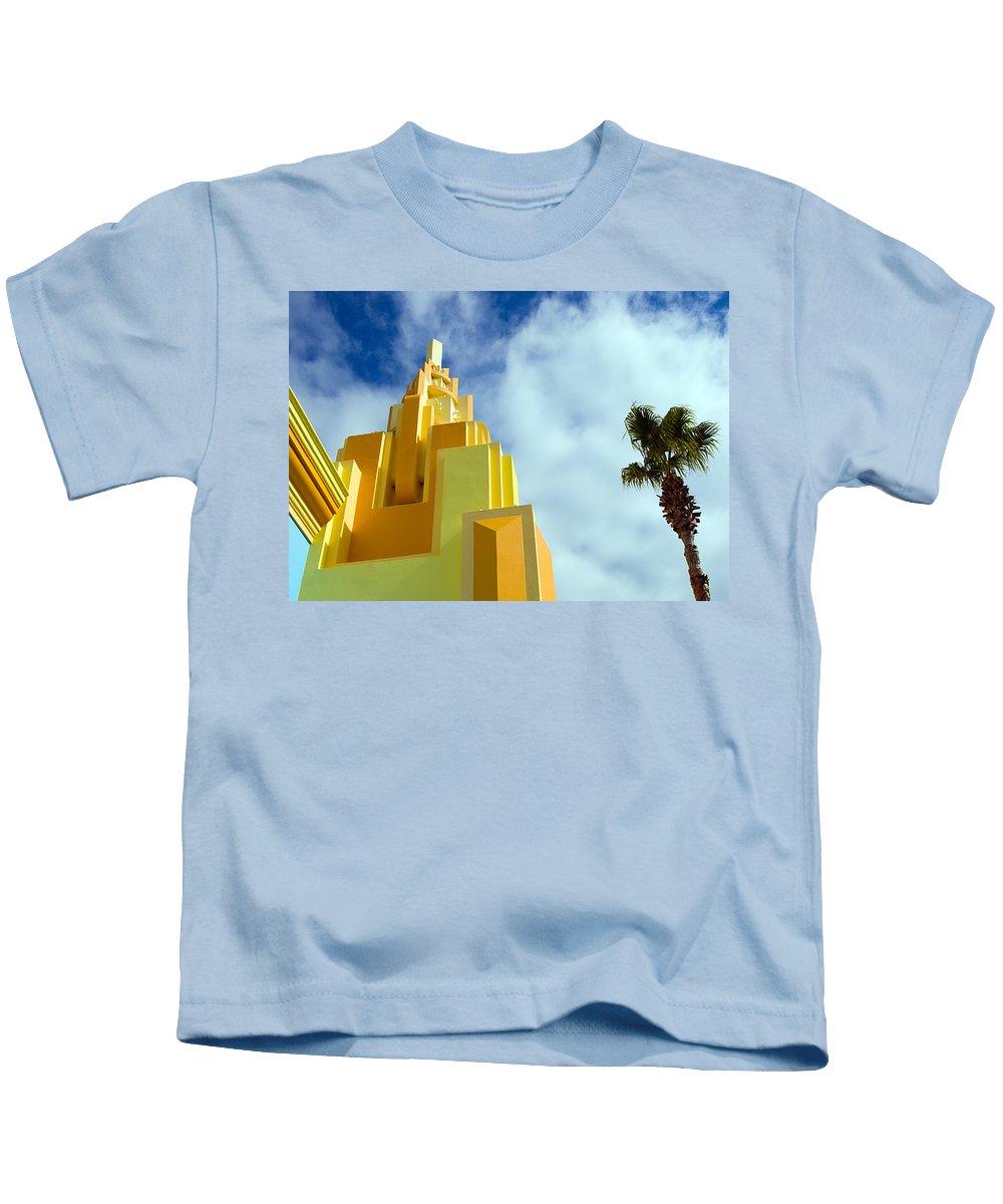 Cocoa; Beach; Florida; Brevard; East; Space; Coast; Ron; Jon; Surf; Shop; Surfing; Surfer; Waves; Br Kids T-Shirt featuring the photograph Ron Jon Cocoa Beach Florida by Allan Hughes