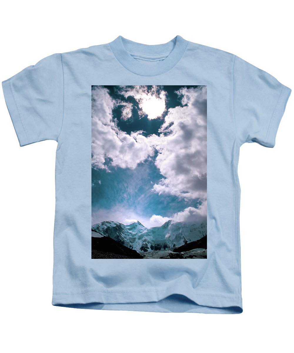 Alone Kids T-Shirt featuring the photograph Sacred Belukha by Konstantin Dikovsky