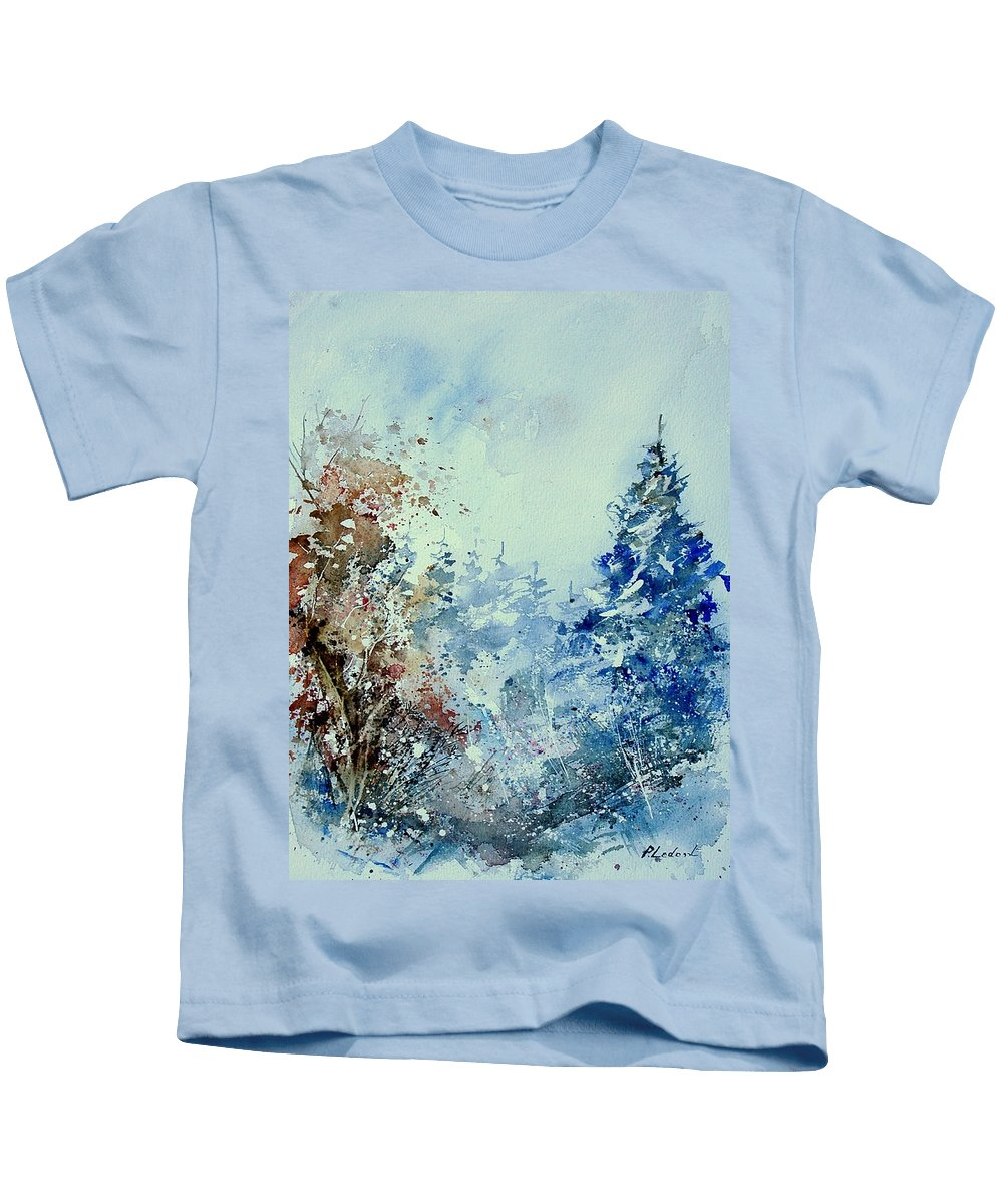 Tree Kids T-Shirt featuring the painting Watercolor 010307 by Pol Ledent