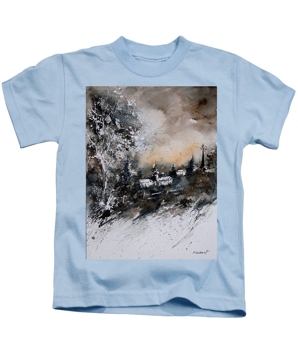 Winter Kids T-Shirt featuring the painting Watercolor 121206 by Pol Ledent