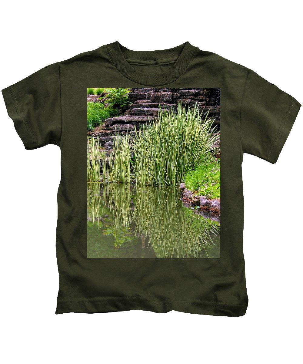 Reeds Kids T-Shirt featuring the photograph Peaceful Spot by Kristin Elmquist