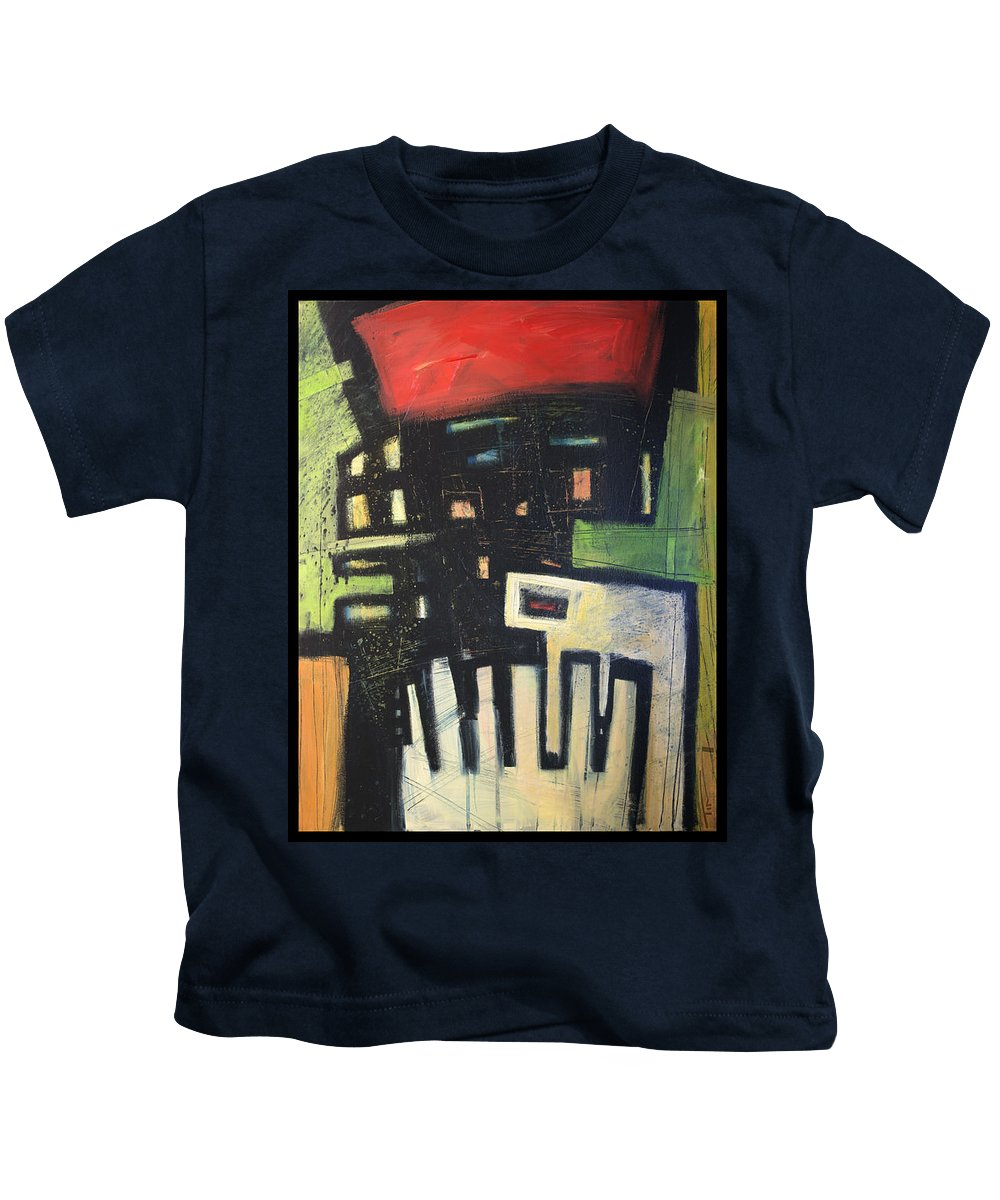 Abstract Kids T-Shirt featuring the painting D Flat by Tim Nyberg