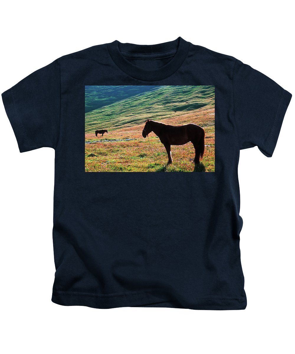 Alone Kids T-Shirt featuring the photograph Altay by Konstantin Dikovsky