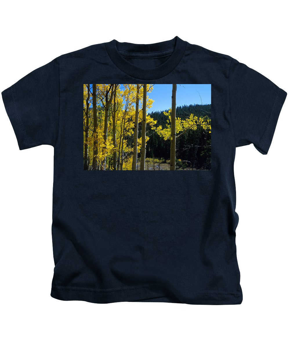 Colorado Kids T-Shirt featuring the photograph Aspen Vista by Jerry McElroy
