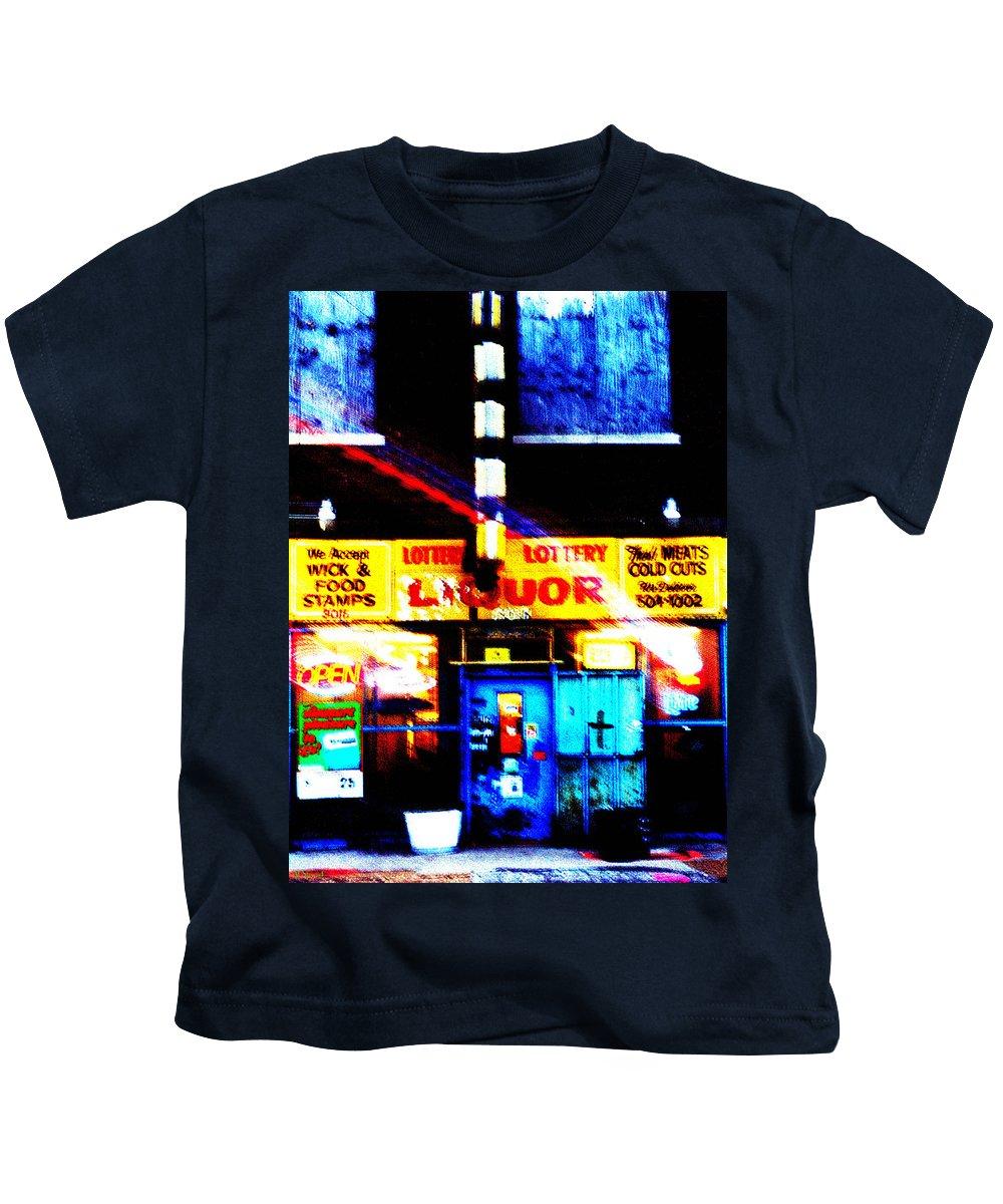 Store Kids T-Shirt featuring the photograph Corner Store by Albert Stewart