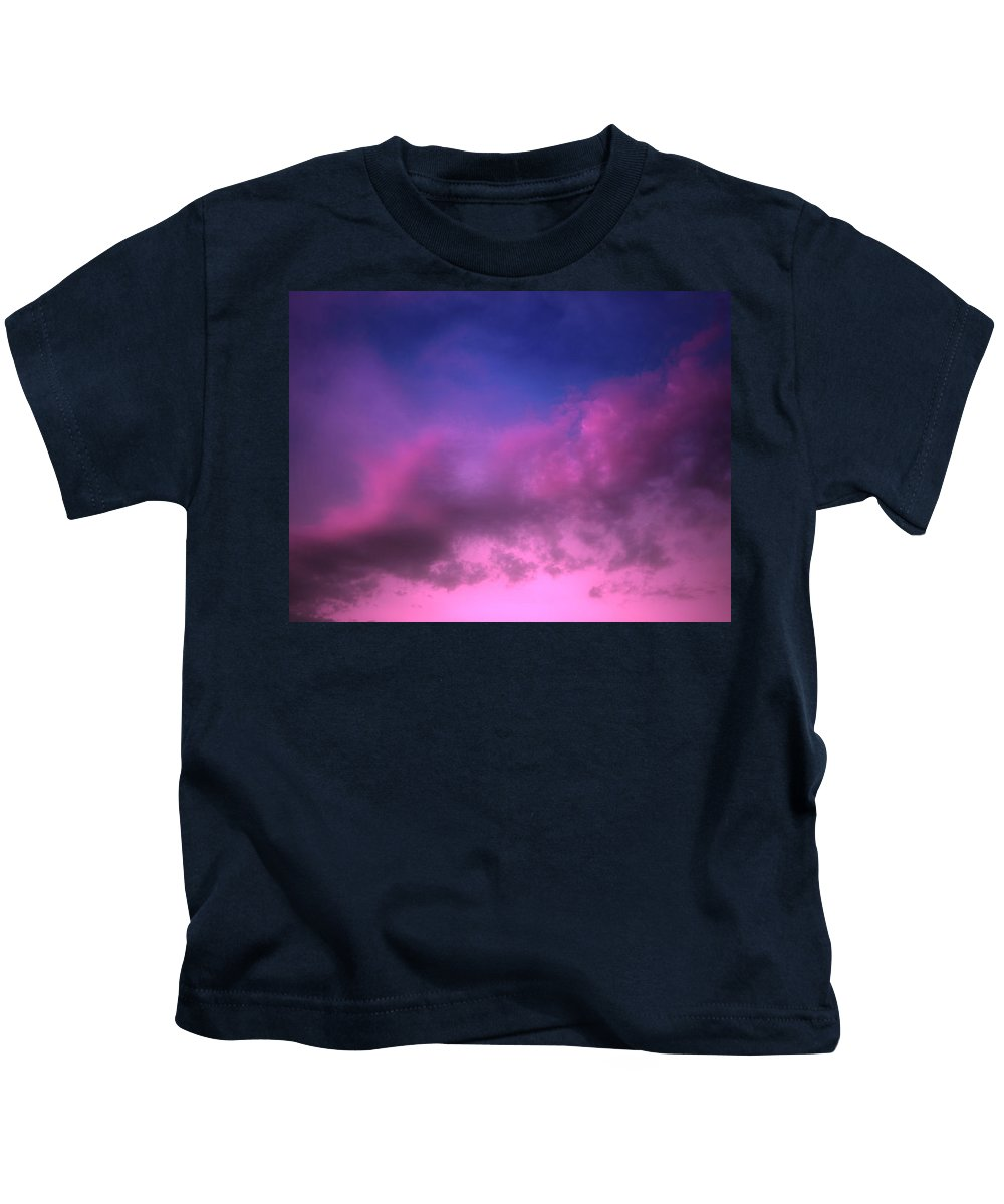 Clouds Kids T-Shirt featuring the photograph Purple Haze by Tara Turner